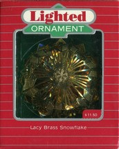 1987 - New in Box - Hallmark Christmas Keepsake Ornament - Lacy Brass Sn... - $4.45