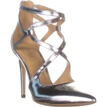 MICHAEL Michael Kors Catia Pump Stilleto Heels, Silver, 10 US - $55.67