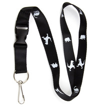 Dinosaur Lanyard Keychain and ID Badge Holder w/ Detachable Breakaway Bu... - $7.99