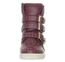 Wanted Shoes Women's Gramercy Fashion Sneaker,Burgundy Size 9M US - $59.40