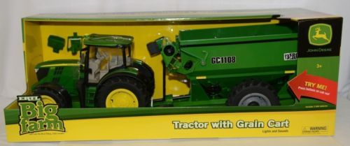 John Deere TBEK46284 Big Farm 6210R Tractor With Grain Cart