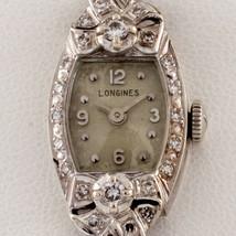Longines 14k White Gold and Diamond Women's Dress Watch Gorgeous - $2,474.89