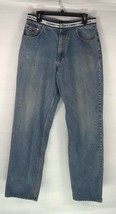 Vintage Tommy Hilfiger Jeans Spell Out Logo Waistband Stripe Mens 32 x 3... - $29.69