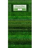 Jelly Roll-Emerald Forest-40 Strips-Wilmington Prints-Duplicates-Greens - $39.95