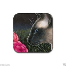 Rubber Coasters set of 4, from art painting Siamese Cat 546 by L.Dumas - $10.99