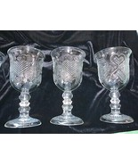 1978 Avon Glass Hearts And Diamonds Goblets Set of 4 - $50.00