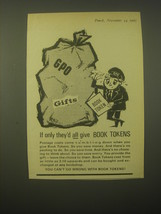 1965 Book Tokens Ad - If only they'd all give Book Tokens - $14.99