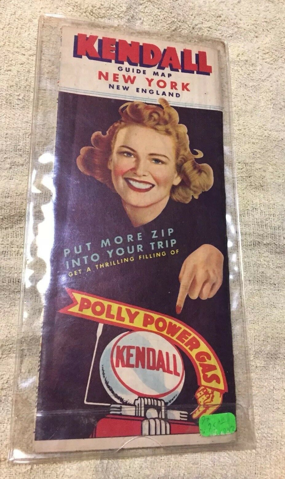 Primary image for 1942 Kendall Oil Road Map: New York New England in plastic sleeve preowned VGC