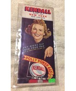 1942 Kendall Oil Road Map: New York New England in plastic sleeve preown... - $47.45