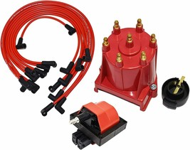 85-96 GM Chevy 4.3L 262 EFI Distributor Tune Up Kit & 8.0mm Spark Plug Wires image 1