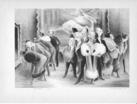 "Art Plate/Print 1939 ""Art Lovers"" by Adolf Dehn - $8.99"