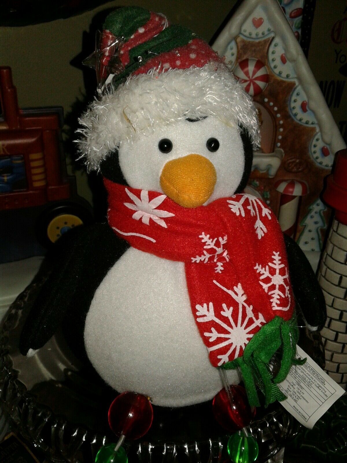 "Christmas Color Changing Fiber Optic Lighted Penquin17"" AVON Gift  2008"