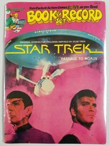 "Star Trek 1979 Peter Pan Book & Record Set Brand New ""Passage To Moauv"" - $19.58"