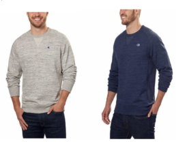 Champion Men's Textured French Terry Crew Sweatshirt - $16.14