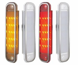 United Pacific Clear Lens LED Side Marker Light Set 1973-1980 Chevy/GMC ... - $123.73