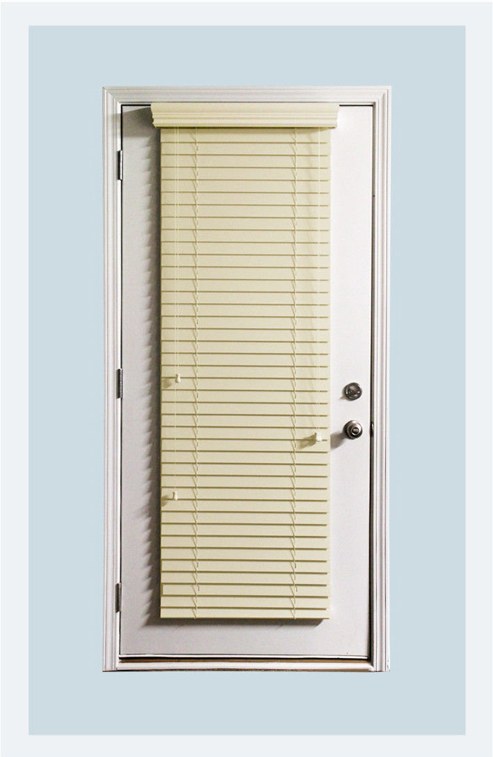 "Custom 2"" Faux Wood Horizontal Window Blind ALABASTER Outside Mount for Doors for sale  USA"