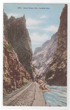 Royal Gorge Railroad Track Rocky Mountains Colorado 1910c postcard - $5.94