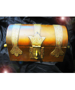 HAUNTED COPPER AND BRASS BOX ROYAL SECURITY PROTECT WEALTH MAGICK MYSTICAL  - $189.77