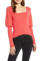 NEW Something Navy XXS Square Neck Sweater Long Sleeve Pullover Red Mum $79 - $23.99