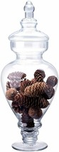 Glass Elegant Nautical Decor Food Trinket Storage Jar Canister w/ Lid 15... - $39.00