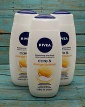 (3) Nivea Care & Orange Blossom Bamboo Extracts Orange Scent Body Wash 1... - $34.64