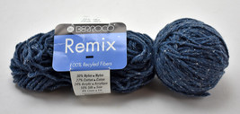 Berroco Remix Cotton/Silk/Linen Recycled Fibers Yarn - Partial Skein Den... - $8.27 CAD