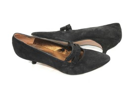 Kenneth Cole New York Suede Kitten Heels Pointy Size 9 B Spain Granny Victorian - $43.56