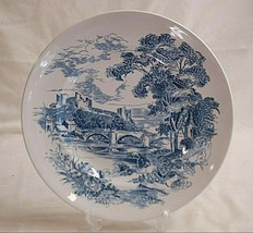 """Countryside Blue by Wedgwood 9-3/4"""" Luncheon Plate Blue English Scenes Smooth - $19.79"""