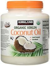 Kirkland Signature Cold Pressed Unrefined Organic Virgin Coconut Oil (2 Bottl... - $43.55