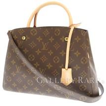 LOUIS VUITTON Montaigne MM Monogram Canvas Handbag Shoulder Bag M41056 Authentic