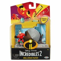 new Jakks Pacific Incredibles 2 Drill Attack Playset Mr. Incredible Mini Figure - $12.10