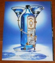 1998 Print Ad Bombay Sapphire Gin Martini for Two Eliav Nissan Art Adver... - $9.79