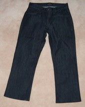 James Jeans Women's Capri Pants Size 27 Dark Wash Blue Dry Aged Denim - $18.76