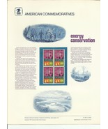 ENERGY CONSERVATION #1547 COMMEMORATIVE PANEL 1974 #38 - $4.18