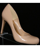 Jessica Simpson 'Calan' nude round toe sculpted slip on pump heel 10M - $29.50