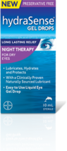 Hydrasense Gel Drops Night Therapy for Dry Eyes 2 Bottles 10ml each Cana... - $59.99