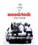 Woodstock 11x14 Promotional Poster iconic kids sitting on Chevrolet Chevelle SS - £10.90 GBP