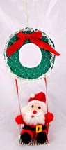 "Giftco Santa Claus on Swing Plush Ornament 11"" 1997 Stuffed Christmas  - $5.95"