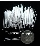 Argento Placcate Gioielli Spilli con Testa 100 1.9cm 20 Ga fhs002 - $1.74