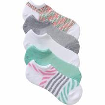 No Boundaries No Show Socks 5 Pair Women's Shoe Size 4-10 White Stripe  #30 - $9.89