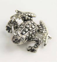 VINTAGE ESTATE Jewelry REALISTIC FROG BROOCH - $10.00