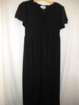 Liz Lange Maternity Size Medium Black Short Sleeve Women LBD Career Dres... - $7.11
