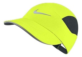 NEW! Nike Adult Unisex Tailwind Aerobill Ventilated Running Hat-Volt 849... - $84.54