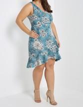 Plus Size Blue Dress, Blue Floral Dress, Plus Size Dress, Blue Print Dress image 2