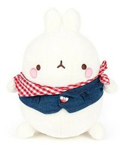 Molang Blue Jean Jacket Costume Stuffed Animal Rabbit Plush Toy 9.8 inches