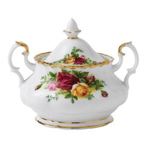 Royal Albert Old Country Roses Covered Sugar Bowl with Lid  NEW - $74.25