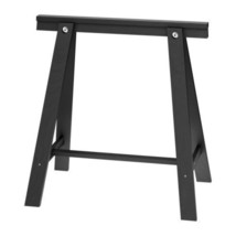 IKEA ODDVALD Trestle Table Leg - Black - Solid Wood, 101.189.71 - NIB - $63.35