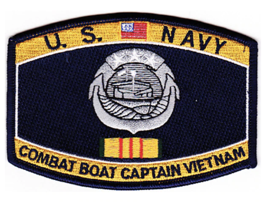 "Primary image for 4."" NAVY COMBAT BOAT CAPTAIN VIETNAM EMBROIDERED PATCH"