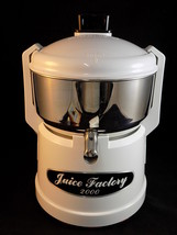 Juice Factory 2000 Stainless Steel Fruit Veggie Vegetable Juicer EXCELLE... - $98.99
