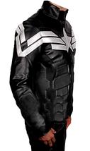 Chris Evans Avengers Endgame Captain America Black Leather Costume Jacket image 2